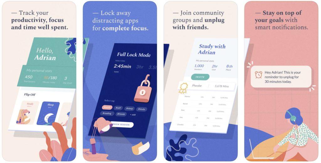 Flipd app uses